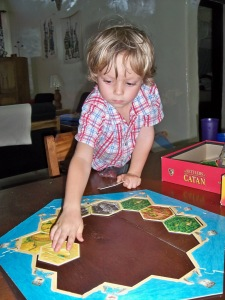 Without any instruction, Judah got straight to work setting up the board on his own. I loved seeing him so focused and intent!