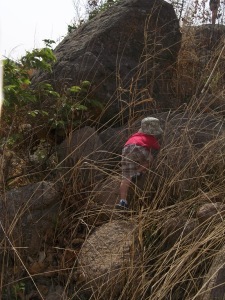 Climbing rocks and hiking - their favorite thing to do in Nigeria