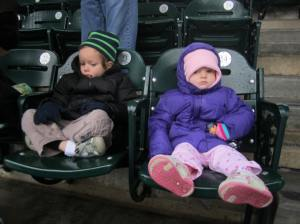 Don't they look elated?  A couple of troopers at a really bad weather Tigers games!