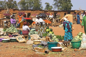 The market where we usually shop is much bigger than this one just outside of Jos, but I love all the colors this one showcases!