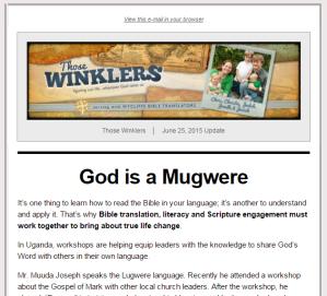 June 2015 e-letter