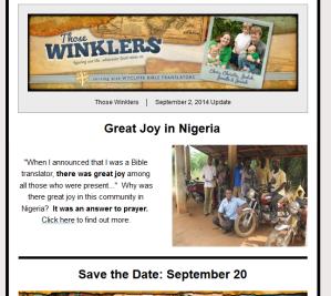 September 2, 2014 update